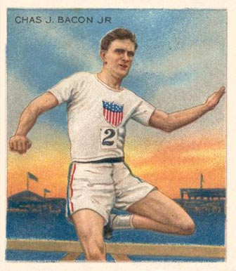1910 Champions Chas. Bacon Jr #4 Boxing & Other Card
