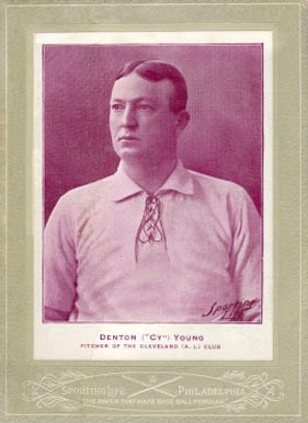 1902 Sporting Life Cabinets Cy Young #715-b Baseball Card