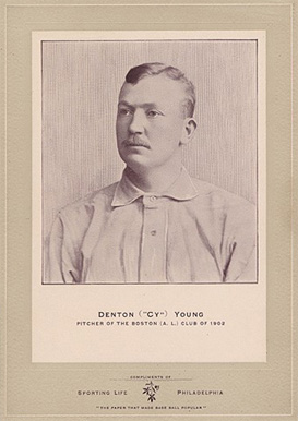 1902 Sporting Life Cabinets Cy Young #715 Baseball Card