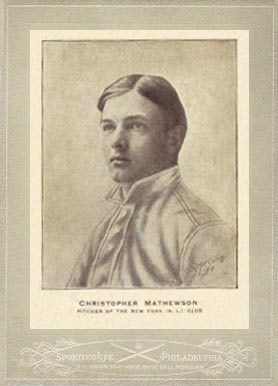 1902 Sporting Life Cabinets Christy Mathewson #416 Baseball Card