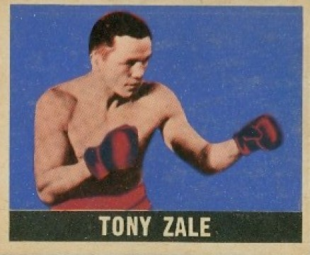 1948 Leaf Boxing Tony Zale #15 Boxing & Other Card