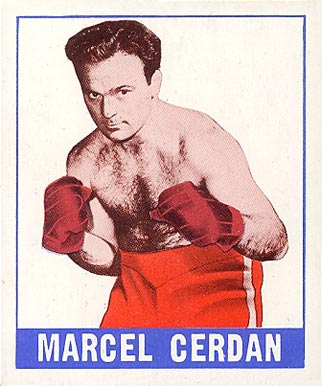 1948 Leaf Boxing Marcel Cerdan #42 Boxing & Other Card