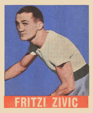 1948 Leaf Boxing Fritzi Zivic #82 Boxing & Other Card