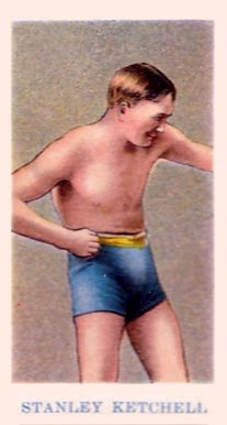 1910 American Caramel Boxing Stanley Ketchell #11 Boxing & Other Card