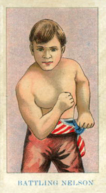 1910 American Caramel Boxing Battling Nelson #16 Boxing & Other Card