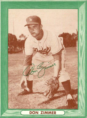 1958 Bell Brand Dodger Don Zimmer #10 Baseball Card