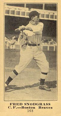 1916 Sporting News & Blank Fred Snodgrass #168 Baseball Card