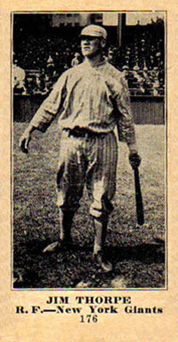 1916 Sporting News & Blank Jim Thorpe #176 Baseball Card