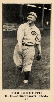 1916 Sporting News & Blank Tom Griffith #72 Baseball Card