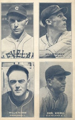 1935 Exhibits Four-on-one Averill/Harder/Kamm/Trosky #1 Baseball Card