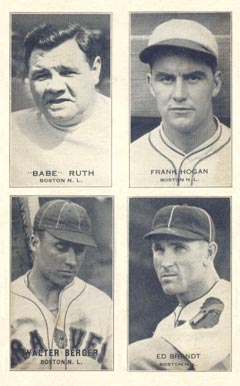 1935 Exhibits Four-on-one Berger/Brandt/Hogan/Ruth #2 Baseball Card