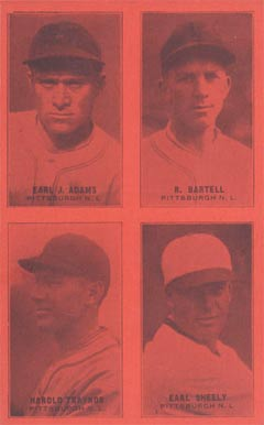 1929 Exhibits Four-on-one Earl Adams #1 Baseball Card