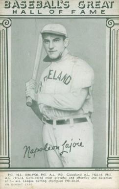 1948 Hall Of Fame Exhibits Napoleon Lajoie 20 Baseball
