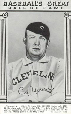 1948 Hall Of Fame Exhibits Cy Young 33 Baseball Vcp Price
