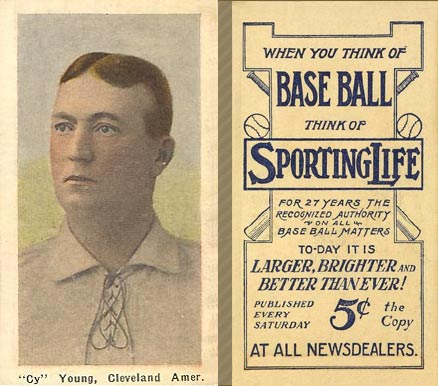 "1911 Sporting Life ""Cy"" Young, Cleveland Amer. #324 Baseball Card"