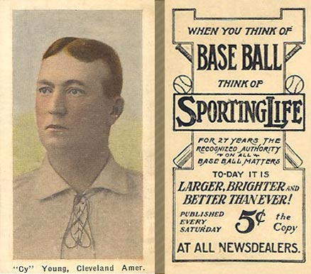 1911 Sporting Life Cy Young #323 Baseball Card