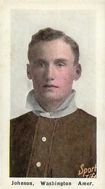 1911 Sporting Life Walter Johnson #146 Baseball Card