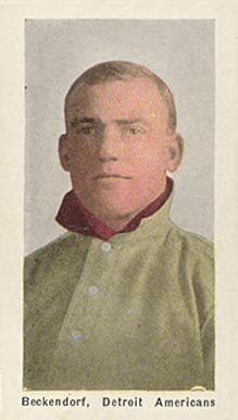 1911 Sporting Life Henry Beckendorf #18 Baseball Card