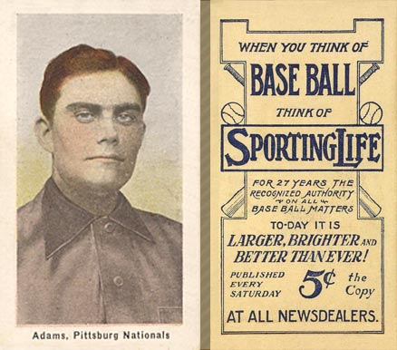 1911 Sporting Life Babe Adams #3 Baseball Card