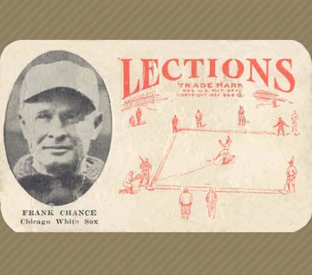 1923 Lections Frank Chance #1 Baseball Card