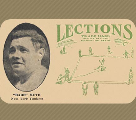 "1923 Lections ""Babe"" Ruth #8 Baseball Card"