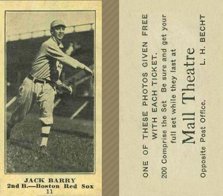 1916 Mall Theatre Jack Barry #11 Baseball Card
