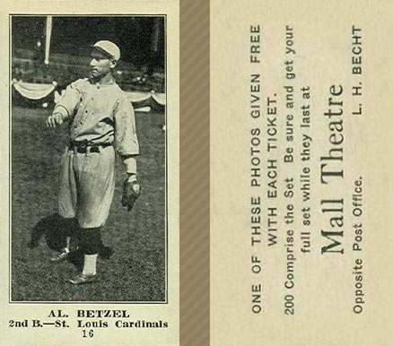 1916 Mall Theatre Al Betzel #16 Baseball Card