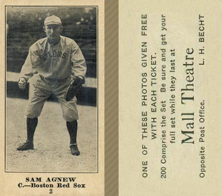 1916 Mall Theatre Sam Agnew #2 Baseball Card