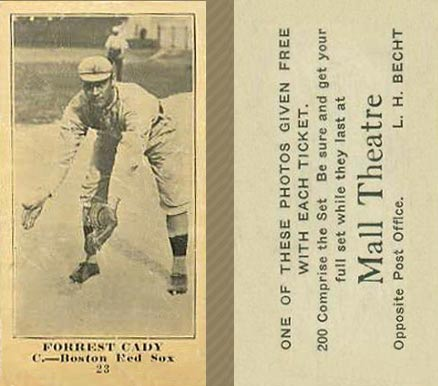 1916 Mall Theatre Forrest Cady #25 Baseball Card