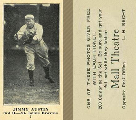 1916 Mall Theatre Jimmy Austin #7 Baseball Card