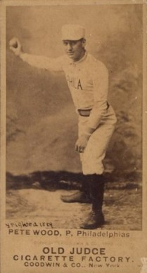 1887 Old Judge Pete Wood #509-5a Baseball Card