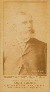 1887 Old Judge Harry Wright #520h Baseball Card