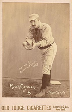 1888 Old Judge Cabinets Roger Connor #88 3 Baseball Card