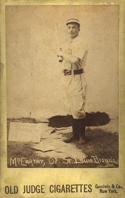 1888 Old Judge Cabinets Tommy McCarthy #307-1 Baseball Card