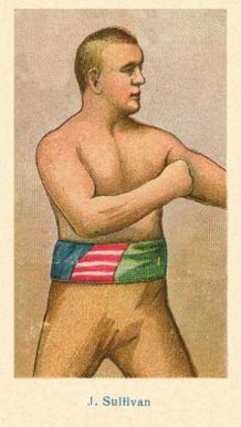 1910 American Caramel Boxers Blue Back John Sullivan #19 Boxing & Other Card