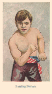 1910 American Caramel Boxers Blue Back Battling Nelson #15 Boxing & Other Card