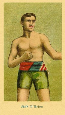1910 American Caramel Boxers Blue Back Jack O'Brien #16 Boxing & Other Card