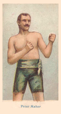 1910 American Caramel Boxers Blue Back Peter Maher #11 Boxing & Other Card
