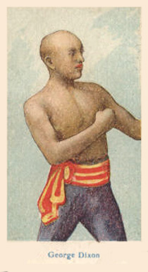 1910 American Caramel Boxers Blue Back George Dixon #5 Boxing & Other Card