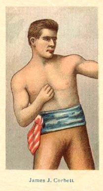 1910 American Caramel Boxers Blue Back Young Corbett #4 Boxing & Other Card