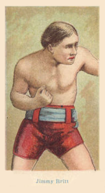 1910 American Caramel Boxers Blue Back Jimmy Britt #1 Boxing & Other Card