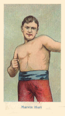 1910 American Caramel Boxers Blue Back Marvin Hart #9 Boxing & Other Card