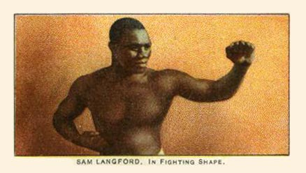 1910 Philadelphia 27 Scrappers Boxing Sam Langford #16 Boxing & Other Card