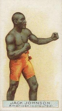 1911 W.D. & H.O. Wills Boxers Scissors Back Jack Johnson #18 Boxing & Other Card