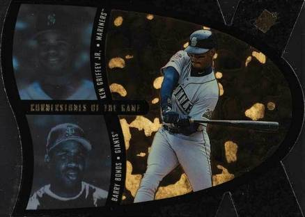 1997 SPx Cornerstones of the Game Bonds/Griffey Jr.  #1 Baseball Card