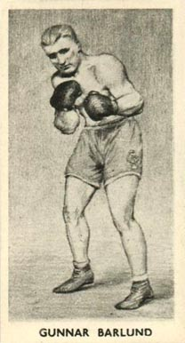 1938 F.C. Cartledge Boxing Gunnar Barlund #27 Boxing & Other Card