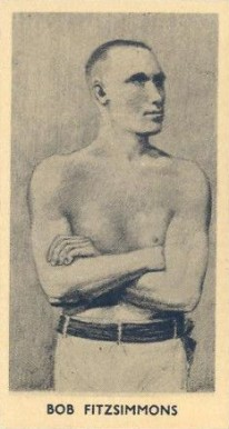 1938 F.C. Cartledge Boxing Glossy Bob Fitzsimmons #24 Boxing & Other Card