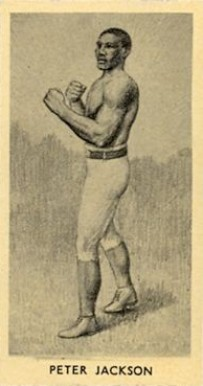 1938 F.C. Cartledge Boxing Glossy Peter Jackson #20 Boxing & Other Card