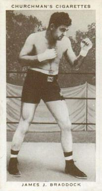 1938 W.A. & A.C. Churchman Boxing James Braddock #6 Boxing & Other Card