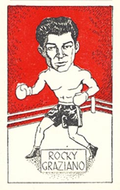1947 D. Cummings & Sons Rocky Graziano #12 Boxing & Other Card